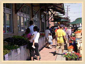 People at Paterson Farmers Market.